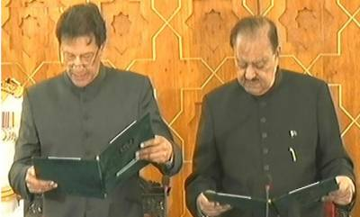 Imran Khan takes oath as new Prime Minister of Pakistan