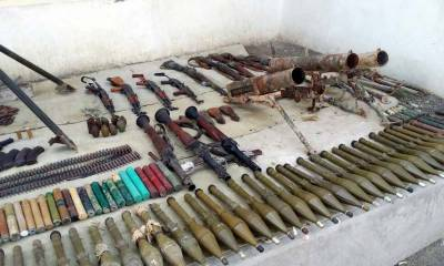 Security forces recovered huge quantity of arms, ammunition in NW