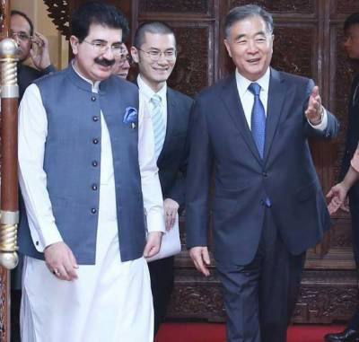 Top Chinese leadership holds important meetings with Senate Chairman Sadiq Sanjrani