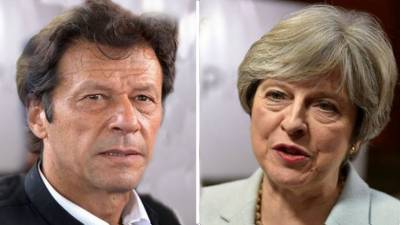 What message Imran Khan conveyed to British PM Theresa May?