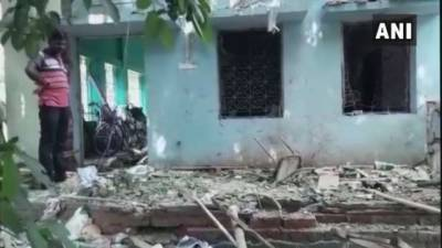 Bomb blast at a political party gathering in India