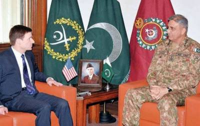 US Ambassador David Hale meets COAS General Bajwa in GHQ