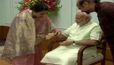 PM Narendra Modi makes Pakistani origin woman as his Rakhi Sister