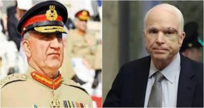 COAS General Bajwa responds over death of US Senator John McCain