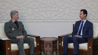 Iran's defence minister meets Assad, offers to expand military equipment