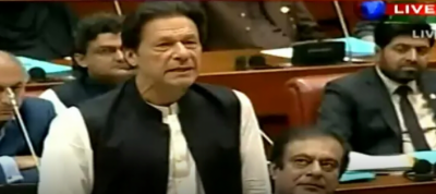 PM Imran Khan surprise appearance in Senate, vows to raise caricatures issue at UN