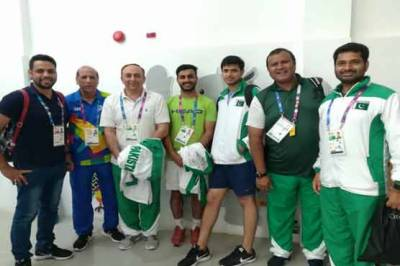 Pakistan squash team notched up back to back victories in Asian Games