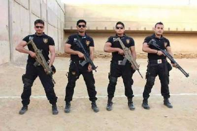 Pakistan Army trained commandos of Sindh Police deployed in Karachi
