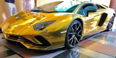 Pakistan's first ever 18K gold foil Lamborghini arrives in Islamabad, Who owns the 18 crore vehicle?