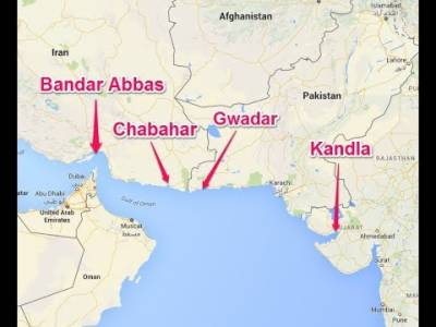 Chabahar Port can handle 50 million tonnes of Cargo while Gwadar stands at 400 million tonnes
