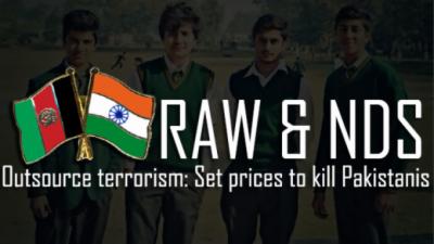 RAW NDS nexus sponsored terrorism in Pakistan, reveals official report