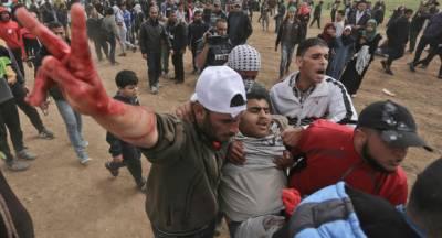 Israeli military plays havoc at Palestinians on Gaza Israel border