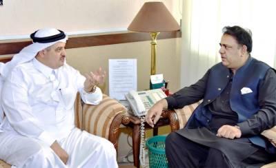 Saudi Ambassador meets Information Minister Fawad Chaudhry
