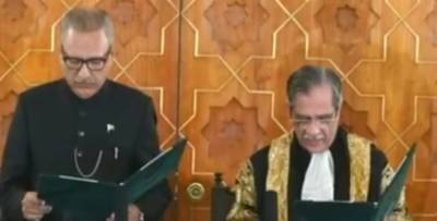 Dr Arif Alvi takes oath as 13th President of Pakistan