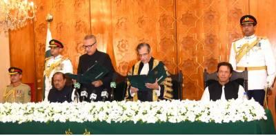 Dr Arif Alvi sworn in as 13th President of Pakistan
