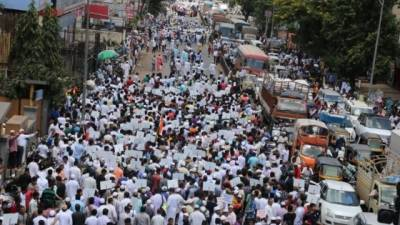 Indian Muslims protest to demand 5% quota in jobs, education