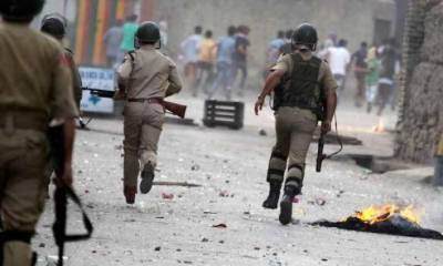 Indian troops martyr seven youth in IOK