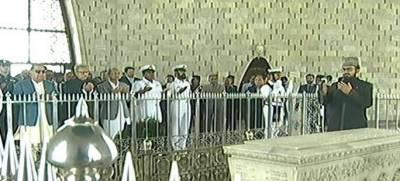 President visits mausoleum of Quaid-e-Azam