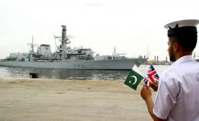 Royal Navy warship arrives at Karachi Port for bilateral exercise