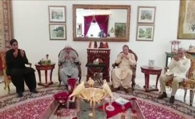 Asif Zardari offers condolence with Nawaz Sharif in Jati Umrah