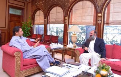 CM Balochistan meets PM Imran Khan