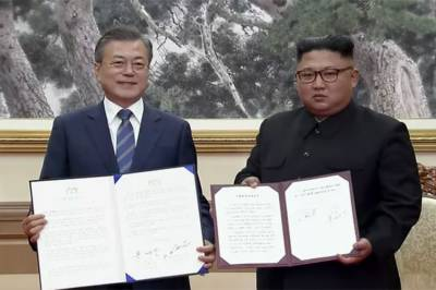 North, South Korea agree to denuclearize Korean peninsula