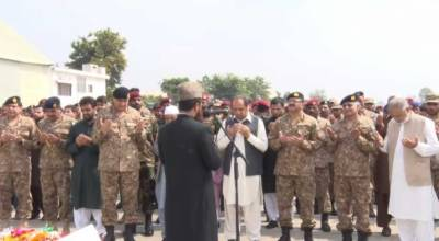 COAS General Bajwa attends funeral prayers of martyred soldiers