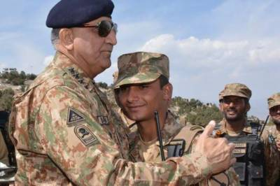 COAS General Bajwa visits Pakistan Afghanistan border area in South Waziristan