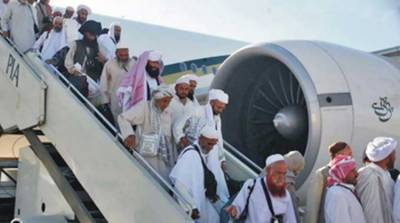 Process of airlifting pilgrims from Saudi Arabia to Peshawar completed