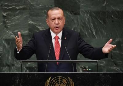 Turkey's Erdogan at UN rails against sanctions 'as weapons'