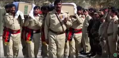 Funeral prayers of martyred soldiers offered