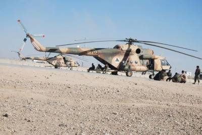 Military helicopter crashes in Parwan