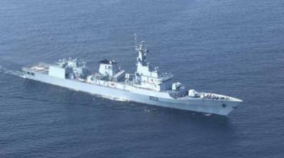 Pakistan Navy Warship participating in multinational naval exercise along with NATO and other friendly countries