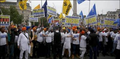 Sikh community protests outside UN Headquarters against India
