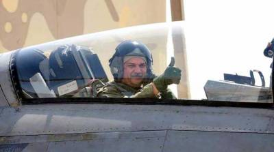 PAF Chief flies fighter jet at forward operational Base