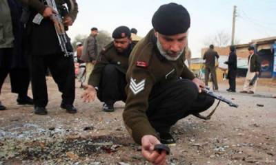 Bomb blast hits two soldiers