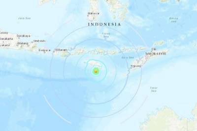 Indonesia hit by 6.0-magnitude earthquake off island of Sumba