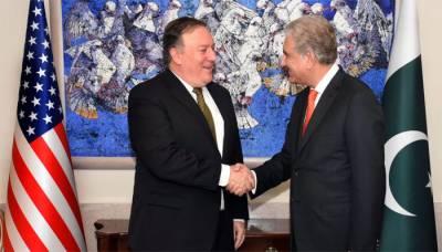 Pakistani FM Shah Mehmood Qureshi met US Secretary of State Mike Pompeo in Washington