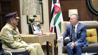 Jordanian King, Pakistan Army Chief discuss bilateral cooperation