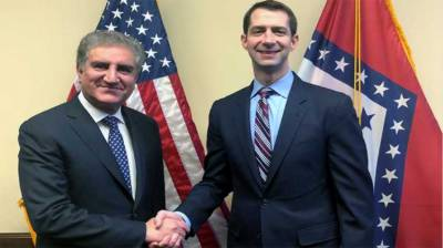 Pakistan FM Shah Mehmood holds important meeting with US Senate Armed Service Committee member