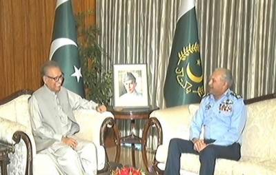 President, Air Chief discuss professional matters of PAF