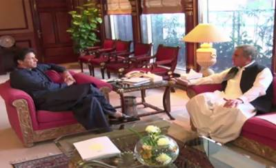 Foreign Minister Shah Mehmood Qureshi calls on PM Imran Khan