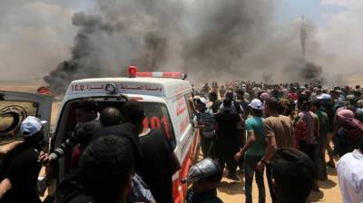 Israeli Military martyrs two Palestinians, injured 18 others at Gaza Israel buffer zone