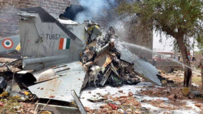Indian military aircraft crashes, no loss of life reported