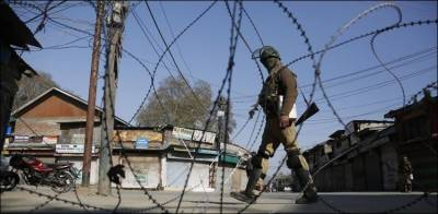 Complete shutter down strike in Occupied Kashmir against so called LG elections