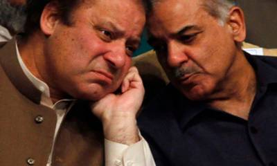 Nawaz meets Shahbaz in NAB Headquarters Lahore: Sources