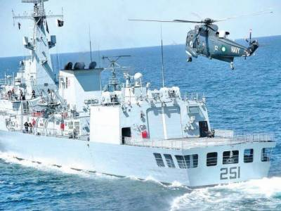 Pakistan Navy warship held joint drills with Turkish Navy