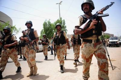 Sindh Rangers recover huge cache of arms in Karachi
