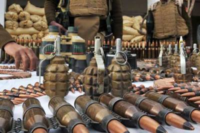 Huge cache of arms and ammunition recovered in an IBO: ISPR
