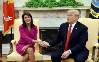 Nikki Haley suddenly resigns as Trump's UN ambassador